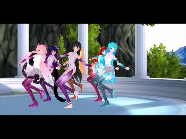 【 MMD x Aphmau】 TEST | MMD-STREET PROJECT APPEND | Aph, Katelyn, KC, Lucinda, Michi, Nicole