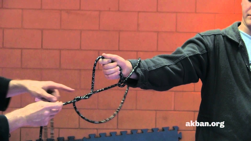 Tying up Shibari Jutsu with a Kusarigama chain Ninjutsu weapons technique AKBAN