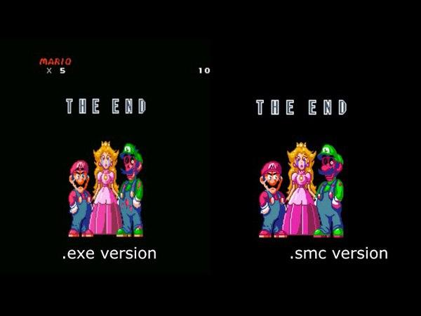 I HATE YOU (Creepypasta Mario) .exe vs ROM HACK comparison