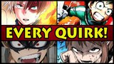 EVERY QUIRK EXPLAINED! Class 1-A (My Hero Academia Boku no Hero Academia)
