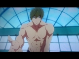 The opening scene for Free! Dive to the Future where Haruka pulls Makoto into the pool is done so well