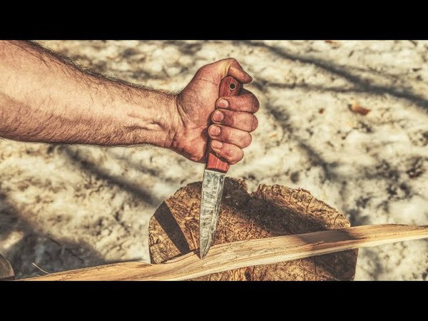 Bushcraft Knife and Axe Safety Working Safely Alone in the Forest Log Cabin Life