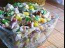 Салат с курицей и фасолью белковая вкуснятина