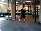 Выбрасывание напопа гири 41,6 кг. Bottom up 41,6 kg kettlebell muscle swing.