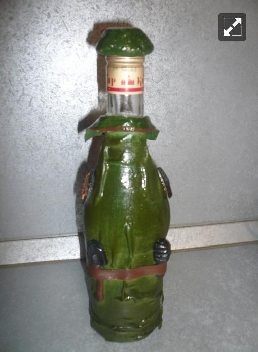 Солдат из бутылки на 23 февраля, 9 мая, в подарок военному своими руками