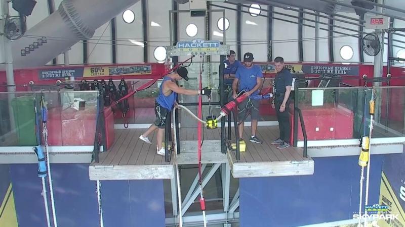 AJ Hacket Skypark Sochi Bungy 69 Прыжок с разбега (Видео с камер)