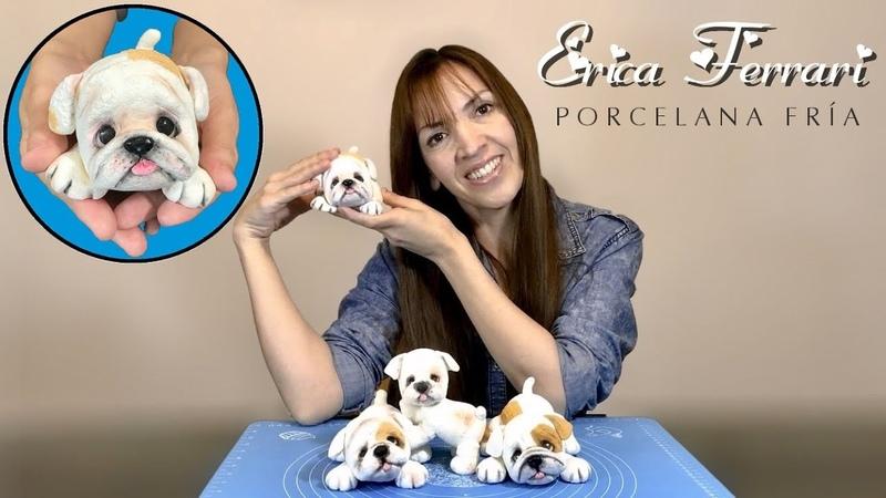 🐶 Erica Ferrari Porcelana Fría | Cachorro Corcho Bulldog | Clase Gratis | DIY | Tutorial Fácil