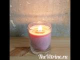 Новая модель свечи с деревянным фитилем и с ароматом Розы. Пальмовый воск и стеарин.