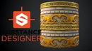 Substance Designer - Stylized Wall with Trims