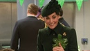 Duke and Duchess of Cambridge drink Guinness with Irish Guard for St Patrick's day