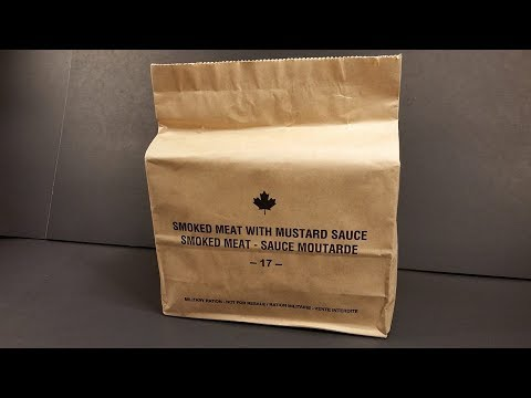 2017 Canadian IMP Review MRE Smoked Meat in Mustard Sauce Meal Ready to Eat Taste Test
