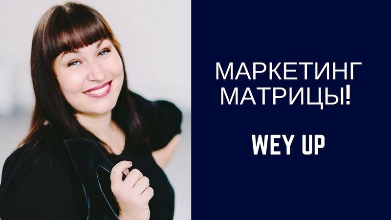 Wey Up маркетинг МАТРИЦЫ