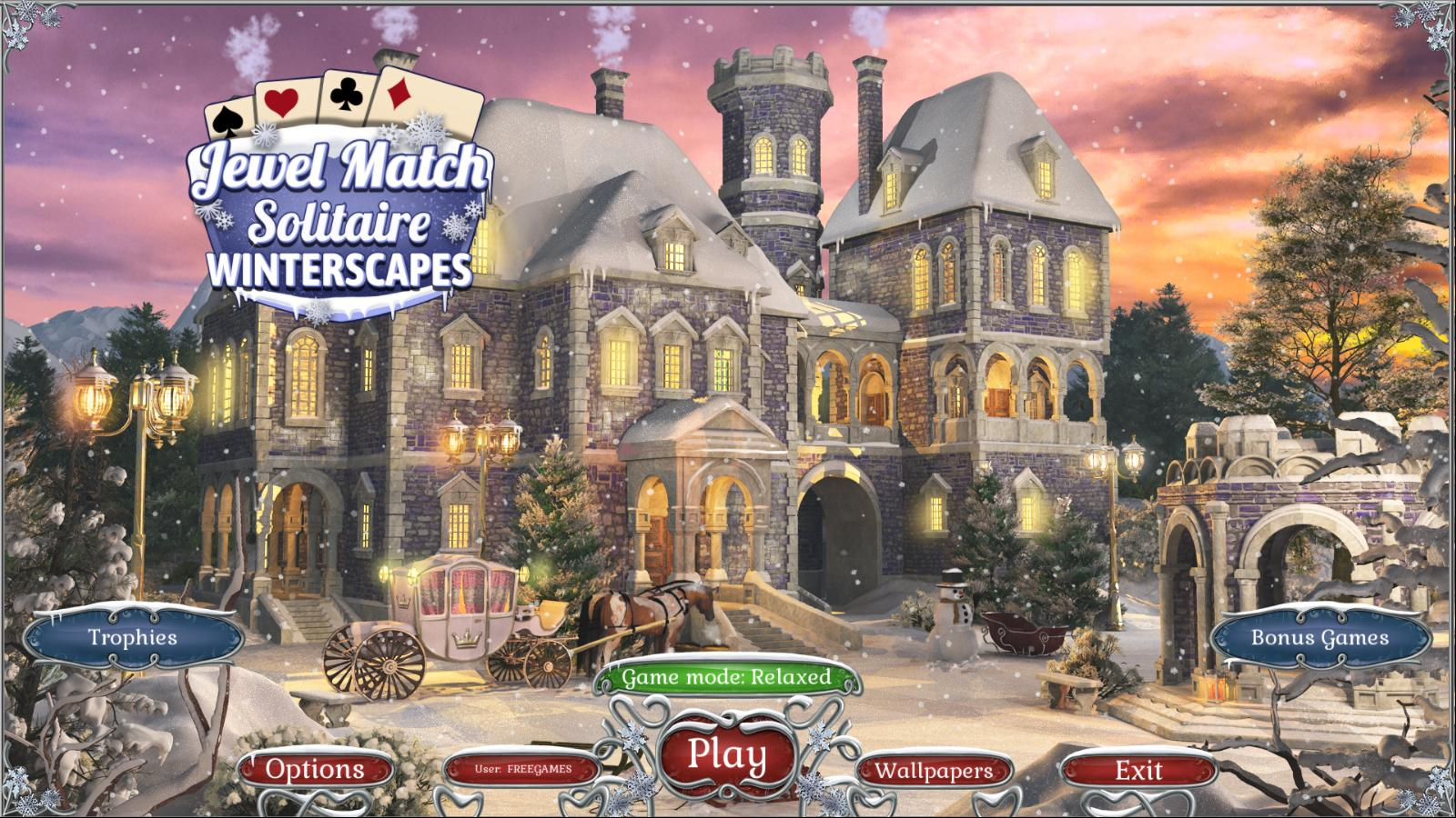 Пасьянс: Зимние пейзажи | Jewel Match Solitaire: Winterscapes (En)