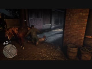Came out of the stables and got attacked by the hulk and his friend?! red dead online
