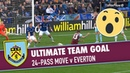 WHAT A GOAL 24 Pass Move v Everton