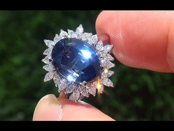 GIA Certified UNHEATED Natural VVS Color Change Sapphire Diamond 18k Gold Ring GEM - A131374