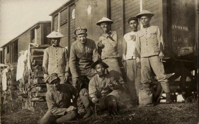 Вьетнамцы - бойцы Сибирского колониального батальона, воевавшие против Красной армии, Уфа, 1918 год.