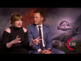 Two minutes with Chris Pratt and Bryce Dallas Howard