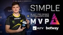 S1mple - HLTV MVP by betway of BLAST Pro Series Copenhagen 2018