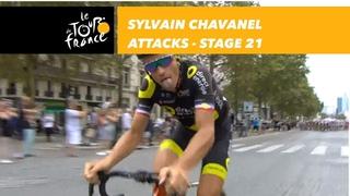 Sylvain Chavanel attacks ! - Stage 21 - Tour de France 2018