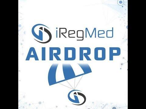 AirDrop криптовалюты IRM IRegMed обзор аирдропа криптовалют получаем 170 FAN