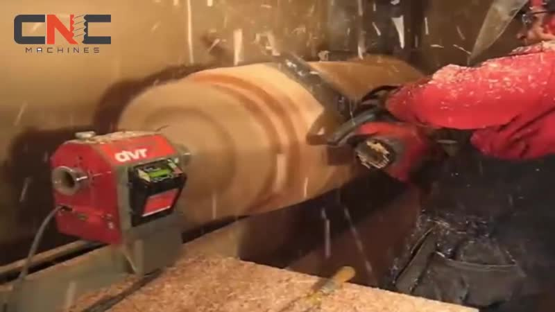 Dangerous Biggest Wood Lathe Chainsaw Work - Fastest CNC Technology