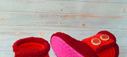 6b6b2c8c2 Сапожки вязаные плюшевые для улицы, вязаная обувь, детская обувь – купить в  интернет-магазине на Ярмарке.. www.livemaster.ru