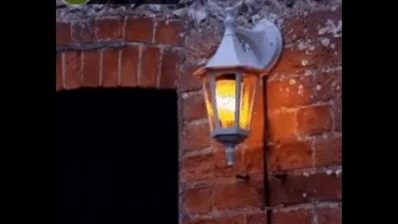 Лампа в виде огня