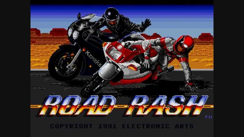 Играю в Road Rash (1991) на Sega Super Drive II