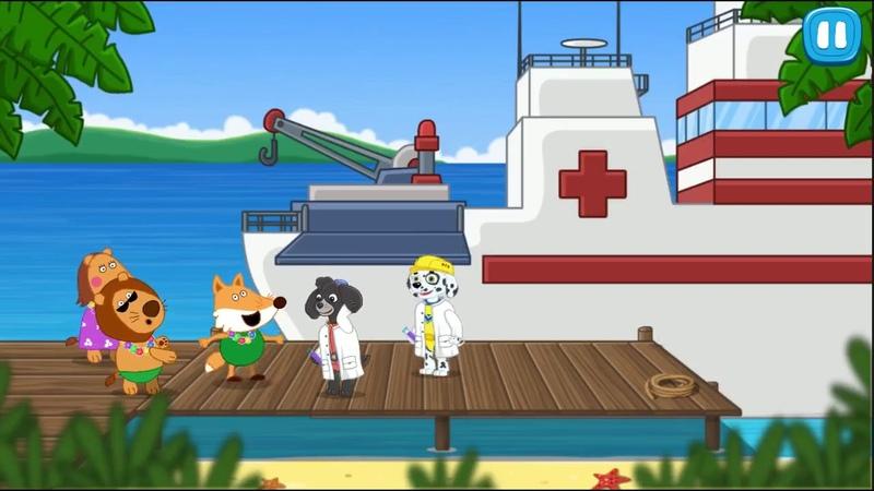 Морской Щенячий Патруль Спасательный Патруль Спасает Затерявшихся Туристов Игра