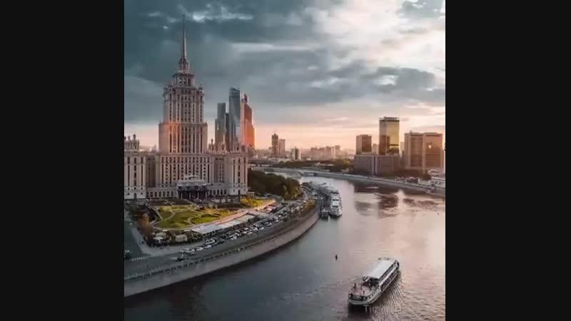 Москва с высоты птичьего полёта mp4