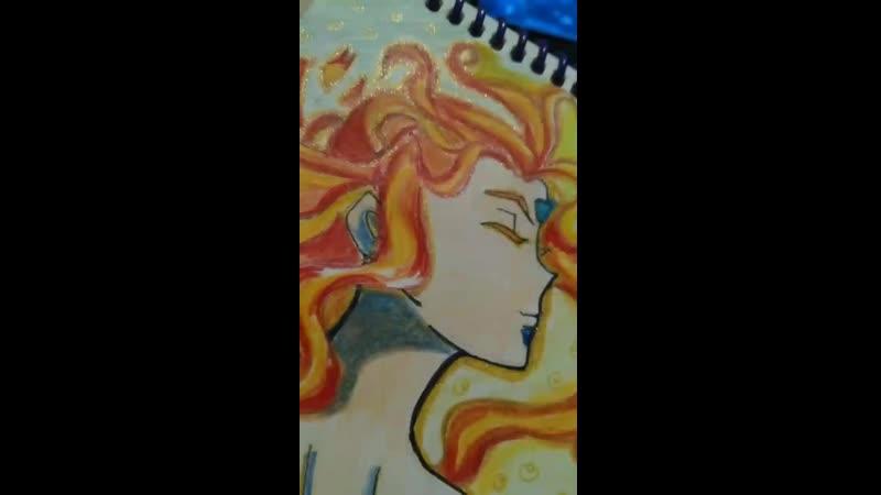 Ева блестящая ручка