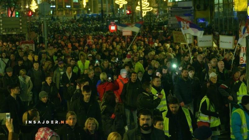 """Pet minuta za pet miliona"""" - održan treći protest u Beogradu"""
