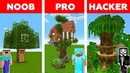 Minecraft NOOB vs PRO vs HACKER TREE HOUSE CHALLENGE in minecraft Animation