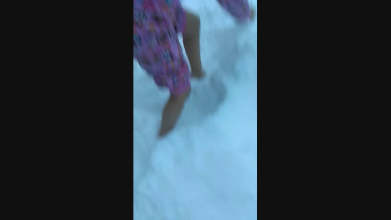 По снегу босиком 😊