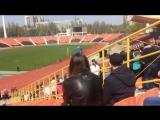 В ДНР школьников учат выкладывать портрет Захарченко на трибуне стадиона.