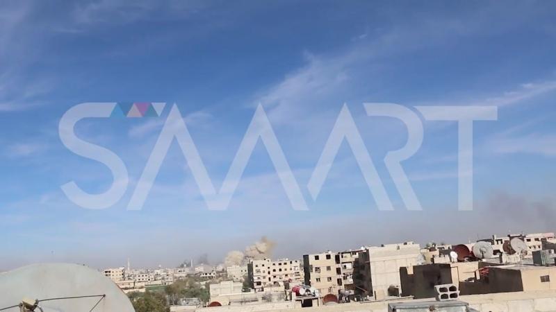 Сирия.14-03-2018 Авиаудары ВВС САР в восточной Гуте