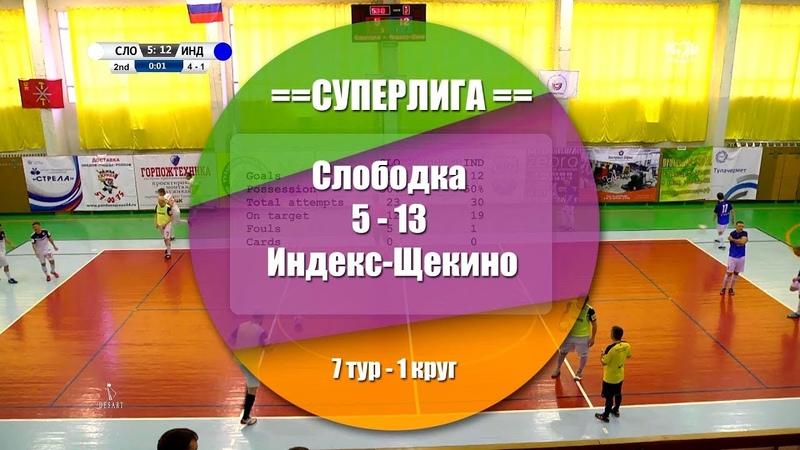 Слободка Индекс Щекино 5 13 2 8 Обзор матча 7 тур СуперЛига АМФТО