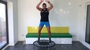 30 minute Bounce Fit Tabata 135bpm. 45 secs exercise, 15 secs rest. Rebounding
