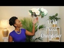 DIY Dollar Tree Glamorous Hanging Floral Chandelier Chanelle Novosey