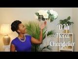 DIY Dollar Tree Glamorous Hanging Floral Chandelier Chanelle Novosey