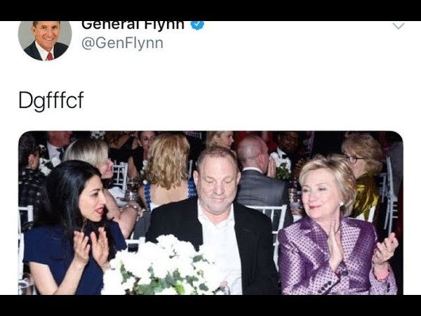 Le général Flynn supprime le lien entre Weinstein, Hillary et Huma après avoir allégué le piratage de Twitter