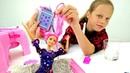 Барби с цветными волосами. Распаковка куклы Мультик Барби