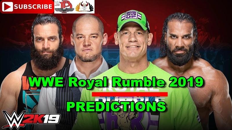 WWE Royal Rumble 2019 Men's Royal Rumble Match Predictions WWE 2K19