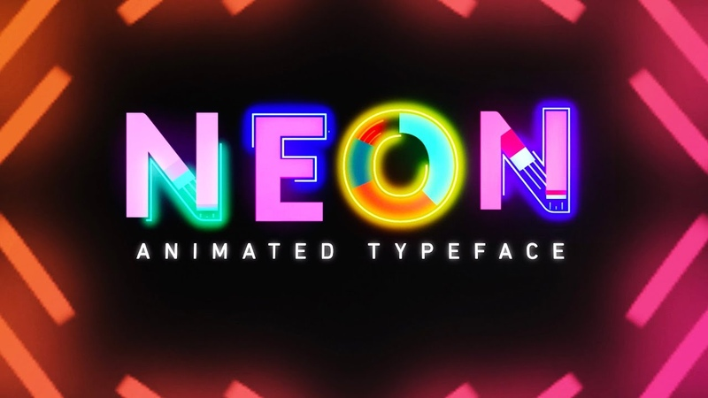 NEON: FREE Animated Text Typeface | Free Assets and Elements