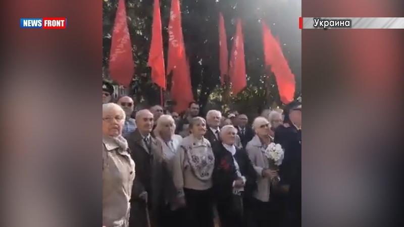 Митинг в Запорожье в честь 75-летия Освобождения города от немецко-фашистских захватчиков