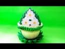 Мастер-класс Канзаши. Пасхальное яйцо с цветами из атласных лент