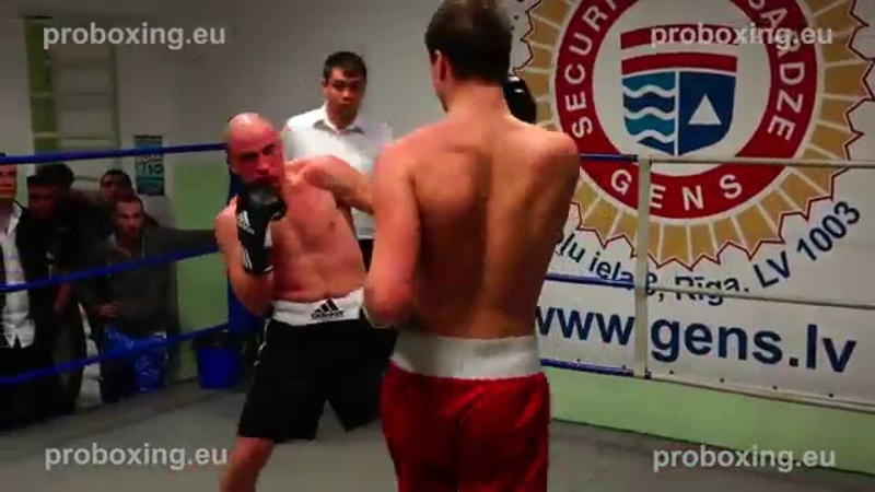 Armands Jekševics (Latvia) VS Raimonds Sniedze (Latvia) 15.11.2014 proboxing.eu