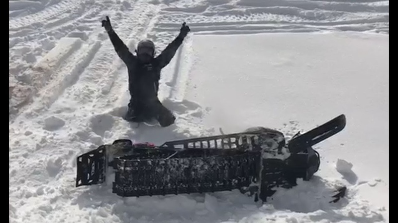 Сашка пытается разбить снегоход и покалечиться сам Polaris rmk tundra 550 venture nytro xtx