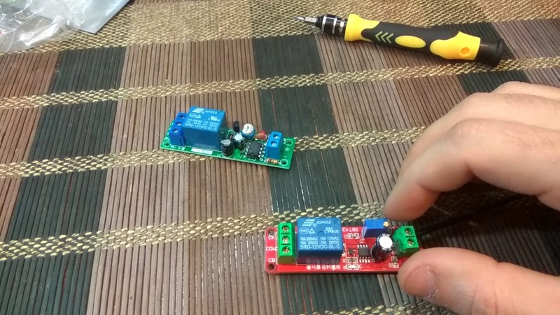 Реле задержки включения до 60с чип NE555